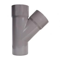 PVC fork 125 - 45º simple