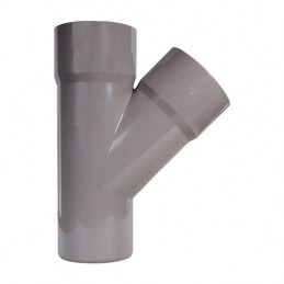 PVC fork 40 - 45º simple