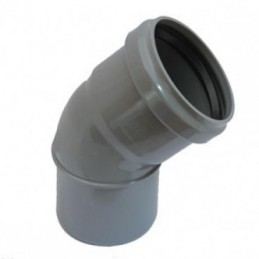 Curva pvc 160x45 DIN c/vedante