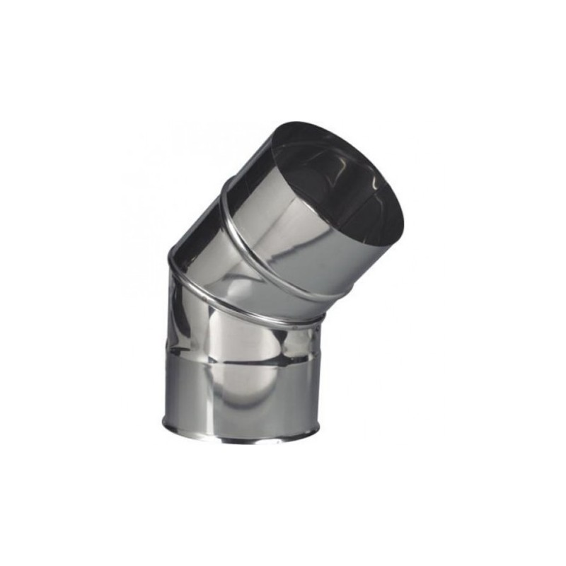 Curve Stainless Steel 150 X 45 º Fumes Heat Leroy Leroi Merlan Merlin Price Guimaraes Bricomarche Blofer Pellets Pelet