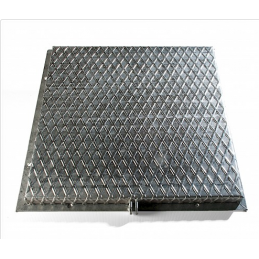 Galvanized lid for well 40x40