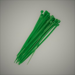 Green plastic cable ties...
