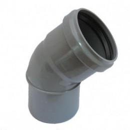 Curva pvc 125x45 DIN c/vedante