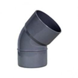 PVC curvo 40x45º TU