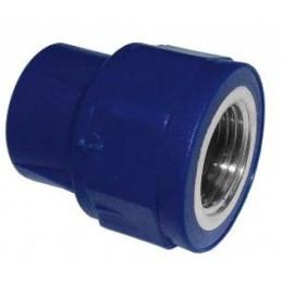 Uniao Femea PP-R Azul 32x1