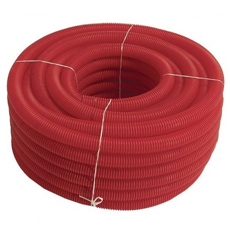 Red corrugated pipe 75mm Electrician-meter