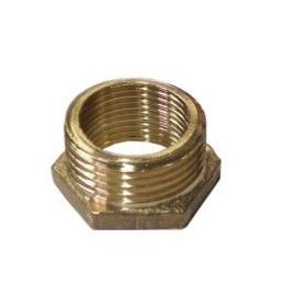 Reduction nut M / F brass 3...