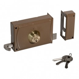 Lock 12cm w / 3 keys 720 left
