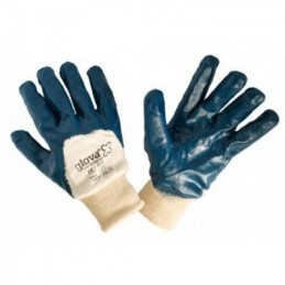 Pair of blue nitrile gloves