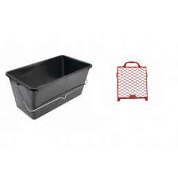 Paint bucket with grid 12lt