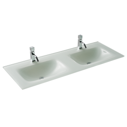 2P 120 Black Glass Washbasin