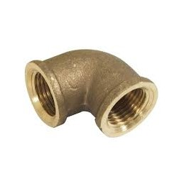 "Simple Knee Brass 1 1/2 ""F / F"