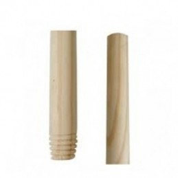 Threaded wooden handle...