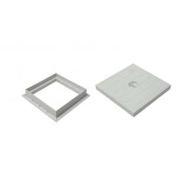 Plastic cover 30x30 w / rim