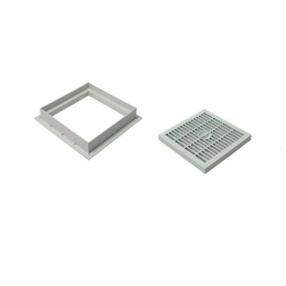 Plastic grid 20x20 w / rim