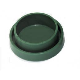 Borne pour tube 1 rond vert