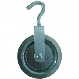 Aluminum pulley 160 w / halter